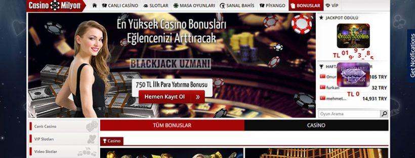 Casinomilyon Bonus