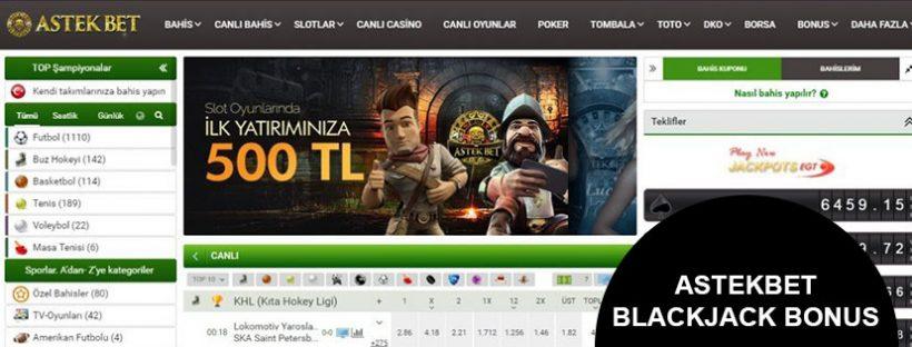 Astekbet Blackjack Bonus