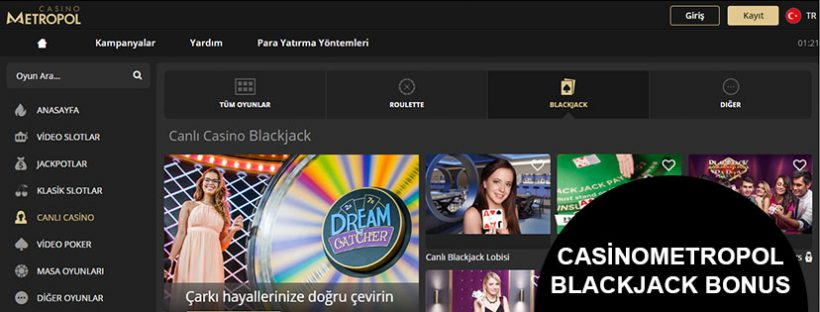 Casinometropol Blackjack Bonus