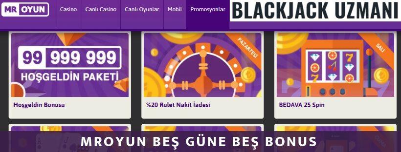 MrOyun casino bonusları